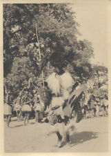 1920S PHOTO OF TRADITIONAL TRIBES PEOPLE DANCING W/ LEADER - MOZAMBIQUE