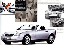 "1996 - MERCEDES ""SLK"" - 200 / 230 Kompressor - German sales brochure, prospekte"