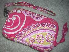 VERA BRADLEY Quilted Small Wallet Wristlet Pink Paisley