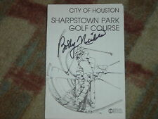 Bobby Nichols Winner Signed  City of Houston  Scorecard