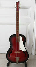 "VINTAGE FRENCH 60S MANOUCHE, GYPSY JAZZ GUITAR ""SYMPHONIE"" WITH A GUITAR CASE."