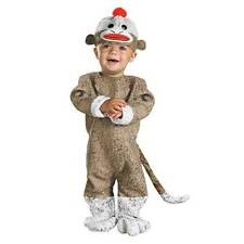 SOCK MONKEY TODDLER COSTUME SIZE 12-18 MO NWT