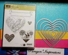 Stampin Up HEARTS COLLECTION Framelits Dies & TAKE IT TO HEART Valentine's Day