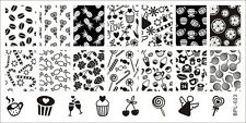 BP L023 Cupcake Sweets Candy Manicure Nail Art Stamp Template Image Plate