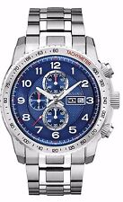 Bulova Men's 96C121 Marine Star Chronograph Blue Dial Diving Watch
