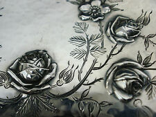 WHITING Antique Sterling OVAL BREAD BOWL 12x6x2  Hammered XC Roses BEAUTY! 1233
