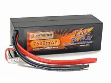 14.8V 7500mAh 4S Cell 75C-150C HardCase LiPo Battery Pack w/ 8AWG Wire Discha...