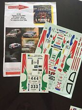 DECALS 1/24 TOYOTA COROLLA AURIOL RALLYE CHINE CHINA 1999 WRC RALLY
