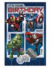 Marvel AVENGERS Assemble It's Your Birthday Greetings Card Colourful Inside(308)