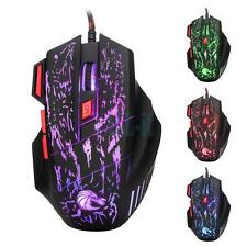 5500 DPI 7 Button LED Optical USB Wired Gaming Mouse Mice For Laptop PC