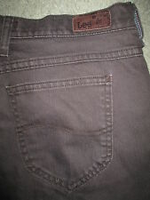 LEE Relaxed Straight Leg Stretch Brown Denim Jeans Womens Size 10 Short x 28