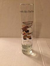 DISNEY MICKEY MOUSE TALL SHOT GLASS 7/12 INCHES - FRONTIERLAND - MAGIC KINGDOM