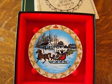 P Buckley Moss ornament CHRISTMAS SLEIGH--1992