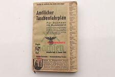 20836 amtl. Taschen Fahrplan Kursbuch Sachsen Sudeten 1940 Deutsche Reichsbahn
