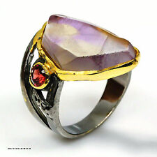 Handmade Jewelry Natural Ametrine 925 Sterling Silver Ring Size 9
