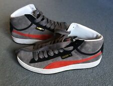 PUMA SUEDE MID S STEEL GREY /BLACK /PUMA RED BOOTS size 10 uk Eur 44.5