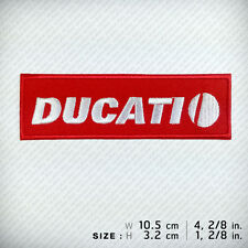 New DUCATI Embroidered Patch Iron on, Sew, Decorate RACING Sports MOTOR BIG BIKE