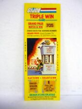 GI JOE TRIPLE WIN GAME Vintage Scratch Off w/Sticker CHECK POINT ALPHA 1985