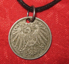 VINTAGE AUTHENTIC GERMAN  GERMANY ANTIQUE EAGLE COIN PENDANT NECKLACE
