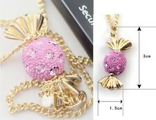 N584 Betsey Johnson Little Candy Lolly Sweets w/ Crystal Gem Party Necklace