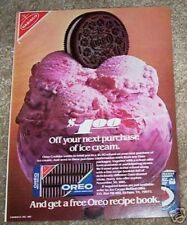 1981 ad page - OREO Cookies NABISCO ice cream Oreos VINTAGE print ADVERTISING