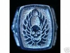 LOOK Skeleton Warrior Ring GOTHIC death Silver Skull Jewelry