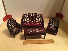Lot of Very nice Chinese furniture,in 1:12 scale,Inlayed MOP,VGC,Dragons