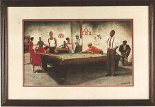 """African American Black Art Print """"BILLIARDS"""" by Arthur Dawson"""