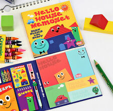 Hello House Memo Set - Book of Colorful Sticky Notes - Memo Pad Book - Post it