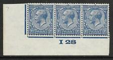 N37(1) 2½d Blue Block Cypher Control I28 imperf MOUNTED MINT