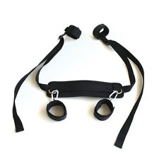 Adult Sex Toy Fetish Bondage Restraint Collar 4 Way Hand Ankle Cuff Strap Set ~