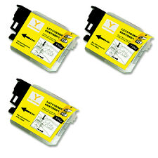 3PK YELLOW Ink Cartridge Compatible for Brother LC61 MFC J220 J265W J270W J410W