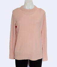 NWT J Crew Collection cashmere back-zip tunic sweater M Mauve Blush HO14 B7067