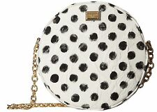 NWT Dolce & Gabbana Runway Glam Circle Polka Dot Tracolla Broccato Crossbody Bag