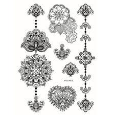 1Pc Tatouages Ephémères Tattoos Temporaires Imperméables de Fleur Lace Elégante