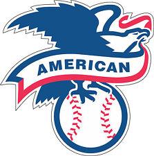 "American Baseball  l Bumper sticker, wall , vinyl , bumper 5""x 5"""
