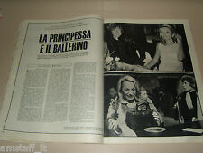 RUDOLF NUREYEV LEE RADZIWILL clipping ritaglio articolo photo EUROPEO 1967/48