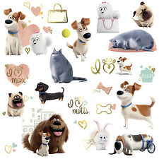 SECRET LIFE OF PETS GIRLS WALL DECALS 23 Dogs Puppies Cats Stickers Room Decor