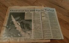 1970's Evel Knievel clippings Snake River Canyon Motorcycle Daredevil Stunt Rare