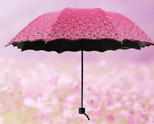 2015 Windproof Anti UV Clear/Rain Korean Lacework Princess Folding Umbrella