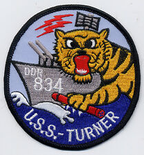 USS Turner DDR 834 - Tiger with torp/ ship BC Patch Cat. No. C5598