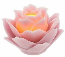 QVC H191182 Lotus Flower Flameless Candle & Timer - ROSE