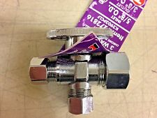 Keeney 1/4 Turn 3 Way Valve K2903PCLF Chrome Plated Solid Brass Lead Free 272816
