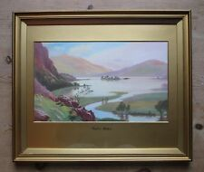 Roland Stead-Rydal Water-Lake District-Original Early 20th Century Watercolour