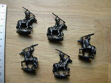 5 x CAVALERIE NOIRE/BLACK CAVALRY MINIATURES/CONQUEST OF THE EMPIRE/EAGLE GAMES
