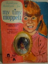 "RARE 1970'S KIDDLE KLONE DOLL NECKLACE "" MY TINY MOPPETT "" MADE IN HONG KONG NOS"