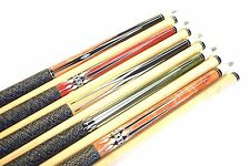 "SET OF 5 POOL CUES New 58"" Canadian Maple Billiard Pool Cue Stick #6 PLUS SHIP"