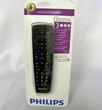 Philips Perfect Replacement Universal Remote Control (SRP1103) 3 in 1 - Black