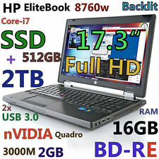 "(3D-Design Game FHD) HP 8760W 17.3"" Core-i7 (BD-RE 512GB-SSD + 2TB 16GB) nVIDIA"