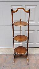 ANTIQUES FRENCH WALNUT 3 TIER TILT STAND,SERVING FOLDING COFFEE TABLE